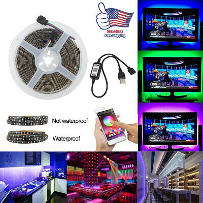 $11.39 • Buy Bluetooth Control Wireless Smart LED Light Strip For TV HDTV Monitor Background