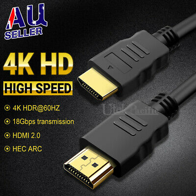 AU9.45 • Buy HDMI Cable 3D Ultra HD 4K 2160p 1080p High Speed With Ethernet HEC ARC V2.0