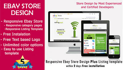 AU65.02 • Buy Ebay Store Design Plus Listing Template 2019 Ebay Policy Complaint Free Install