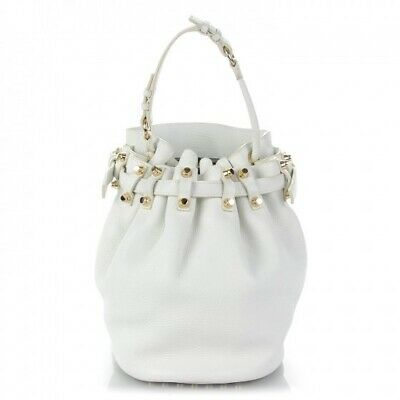 AU250 • Buy Alexander Wang Diego White Bucket Bag Limited Edition With Dust Bag & Tag