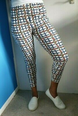 Women Floral Print Jersey Leggings Size M/Lwill Fit A Size 8-10 • 9.99£