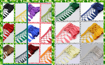 1 M Embroidered Dangling Tassel Lace Trimming Curtain ,dress ,Table Cloth Making • 2.99£