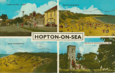 PC70446 Hopton On Sea. Multi View. Harvey Barton • 6.75£