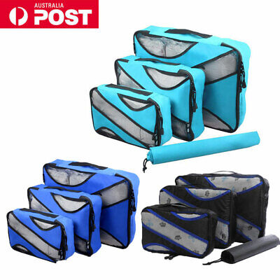 AU15.99 • Buy 4pcs Travel Luggage Suitcase Packing Cubes Clothes Storage Bags Organiser Pouch