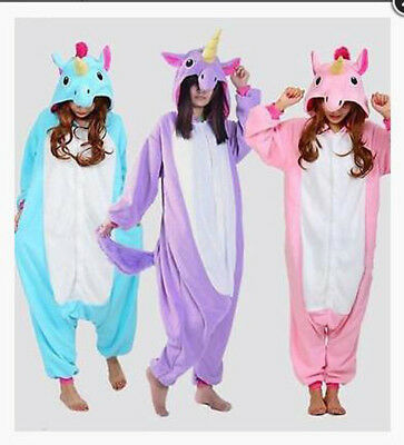 AU12.99 • Buy New/Adult Unisex Pajamas Animal Cosplay Costume Unicorn S- XL Sleepwear Dress/