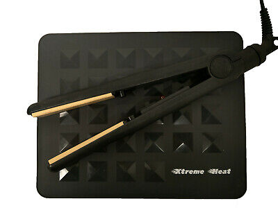 £7.90 • Buy Extreme Heat Silicone Rubber Heatproof Mat For Hair Straighteners GHD,Cloud9 Etc