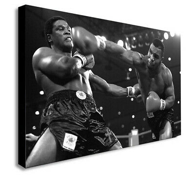 Mike Tyson Boxing - CANVAS WALL ART Framed Print - Various Sizes • 13.99£