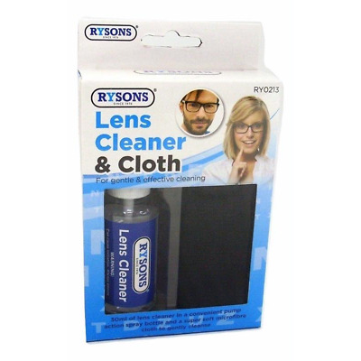 Optical Glasses Spray Lens Cleaner Microfibre Cloth Wipes Camera Spectacle • 4.95£