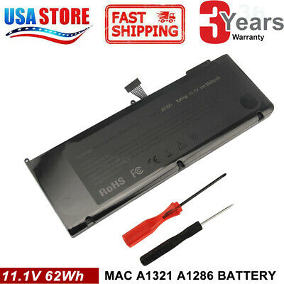 $23.99 • Buy For Apple A1286 MacBook Pro15 Battery A1321 3ICP5/81/77-2 11.1V 62Wh 020-6766-B