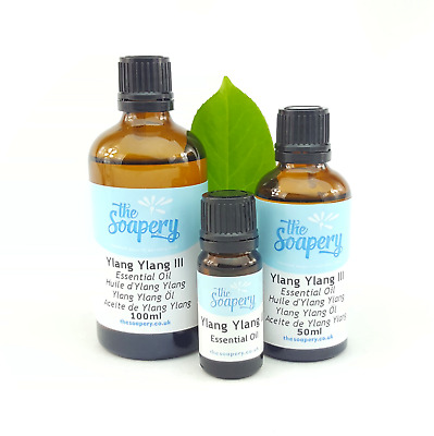 Ylang Ylang III Essential Oil 10ml - 100ml Pure Natural Aromatherapy Diffuser • 1.99£