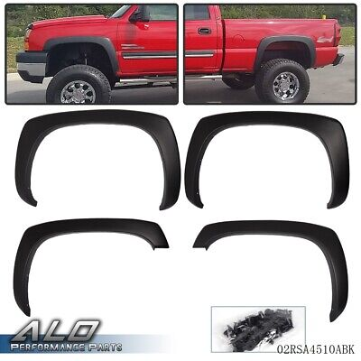 $60.99 • Buy For GMC Sierra Chevy Silverado 99-06 Matte Black OE Style Fender Flares