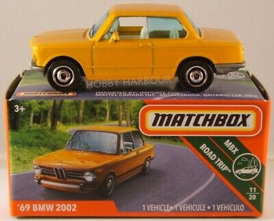MATCHBOX POWER GRABS #7 '69 BMW 2002, 2019 Issue (NEW In BOX) • 3$