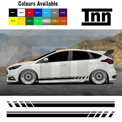 £15 • Buy Side Stripes Stickers Graphics Decals For Ford Focus Fiesta ST RS Mk3 MK2 Turbo