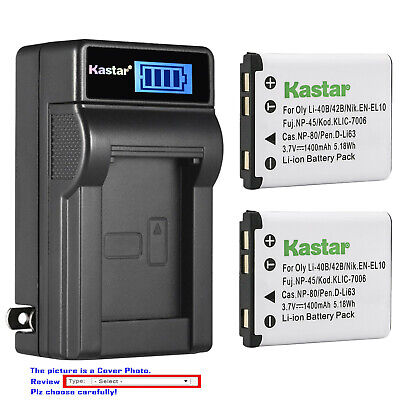$ CDN19.19 • Buy Kastar Battery LCD Wall Charger For Casio NP-80 CNP80 Casio Exilim EX-N20 Camera