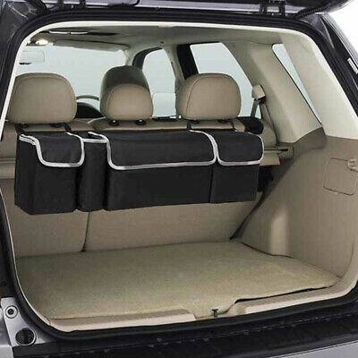 $22.09 • Buy Car Trunk Organizer Oxford Interior Accessory Back Seat Storage Box Bag 4 Pocket