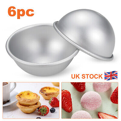 £7.59 • Buy 16x Metal Bath Bomb DIY Soap Mold Sphere Fizzy Craft Cake Candle Tart Moulds UK