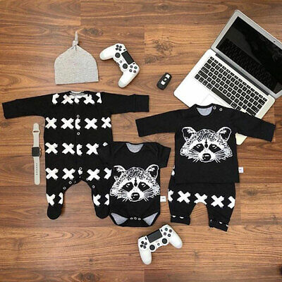Toddler Baby Boy Animal Print Foot Cover Romper Jumpsuit Bodysuit Autumn Clothes • 4.99£