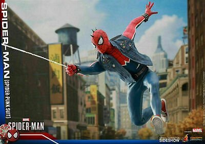 $ CDN367.64 • Buy INSTOCK!  Spider-Man Spider-Punk Suit - Hot Toys - 1/6 Scale (VGM32)