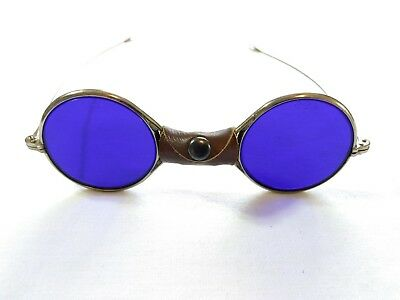 $279.95 • Buy Antique Blue Tinted Spectacles Goggles Safety Eyeglasses Welding Motorcycle