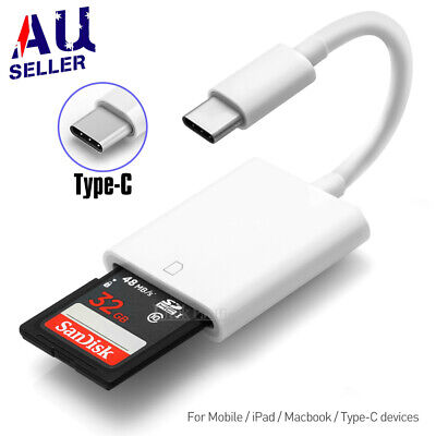AU6.89 • Buy USB-C To SD Card Reader Adapter Type-C Apple IPad Pro Macbook Pro Air 13 Samsung