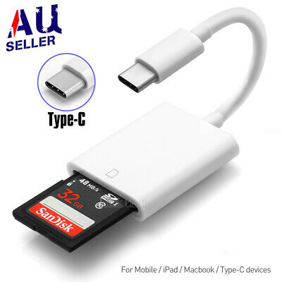 AU6.89 • Buy USB-C To SD Card Reader Adapter Type-C For Apple IPad Macbook Pro Air 13 Samsung