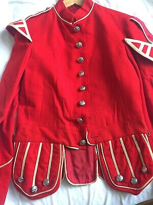 Scottish Guards Military Doublet Tunic Jacket  For Highland Bagpipe Band Wool • 110£