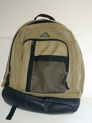 AU33.66 • Buy Adidas Backpack, School, Hiking, Sports, Tan/Black With Adjustable Padded Straps