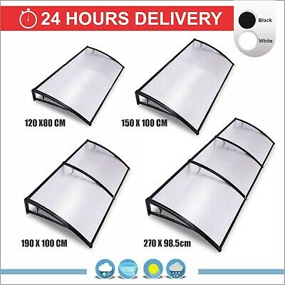 Door Canopy Awning Shelter Front Back Porch Outdoor Shade Patio Roof Rain Cover • 49.99£