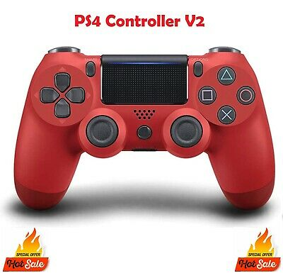AU54.99 • Buy PS4 DualShock 4 RED Playstation 4 Wireless Controller V2 Version 2