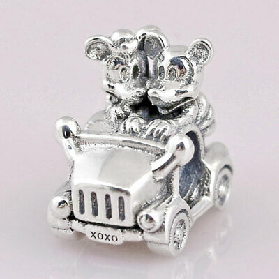 CHRISTMAS GIFT NEW GENUINE SALE Disney Mickey And Minnie Mouse Vintage Car Charm • 5.60£