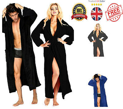100%Egyptian Cotton Toweling Bath Robe Unisex Dressing Gown Luxury Terry Towel   • 15.50£