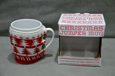 £12.99 • Buy Hot Chocolate Coffee Christmas Cup Mug + Knitted Cosy Removable Sweater Jumper