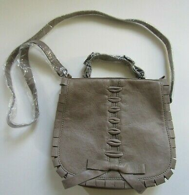 $34.99 • Buy Treesje Taupe Leather Crossbody Bag Nwt