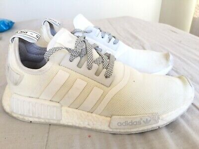 AU99 • Buy Mens ADIDAS NMD R1 Reflective White Sneakers Size US 10 #15392