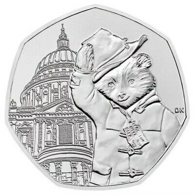 PADDINGTON BEAR AT ST PAULS  50p PENCE COIN 2019 UNCIRCULATED FROM SEALED BAG • 1.98£