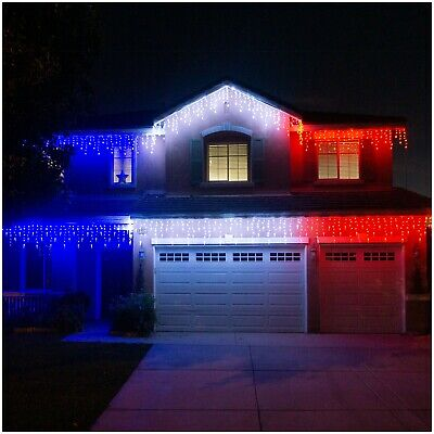 $49.99 • Buy Decor LED Christmas Snow Flakes Icicle Lights Indoor Outdoor Curtain Decorative