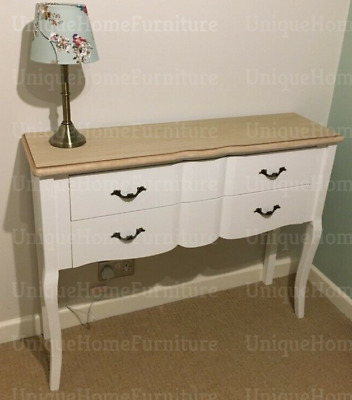French Console Table Shabby Chic Sideboard Antique Style Drawers Vintage Storage • 169.90£