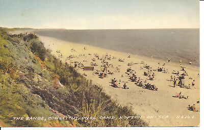 R116032 The Sands. Constitutional Camp. Hopton On Sea. Valentine. Collo Colour • 6.75£