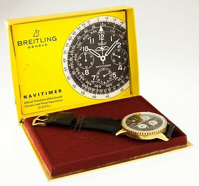 £5541.30 • Buy Vintage Gold-Plated Breitling Navitimer Chronograph Watch 806 W/ Box And Papers
