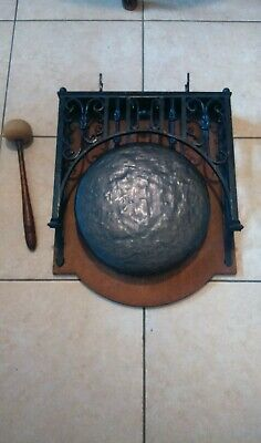 VINTAGE Heavy 8.3kg!! Wall Mounted Gong And Beater  • 199£