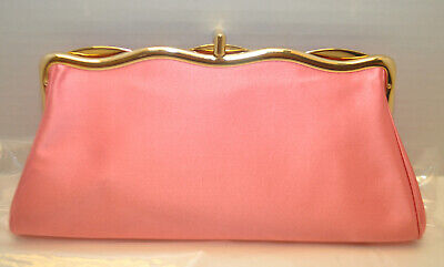 $ CDN100.80 • Buy Kate Spade New York Pink Clutch Kiss Lock Evening Purse Bag Made In Italy