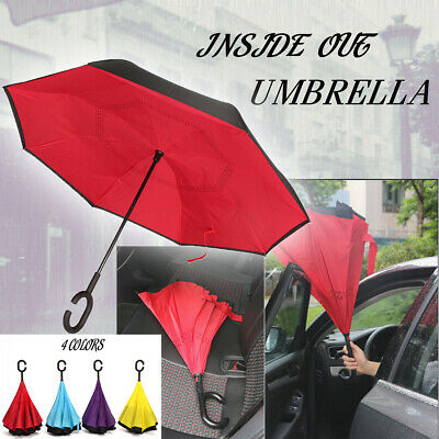 AU13.99 • Buy AU  Modern Upside Down Reverse Umbrella C-Handle Double Layer Windproof
