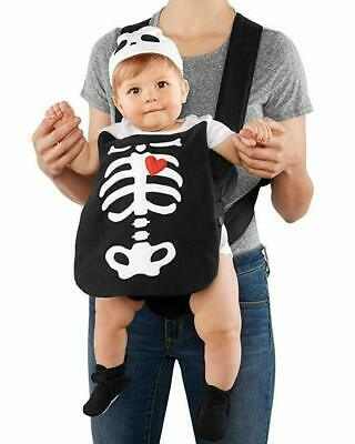 $9.99 • Buy Baby Infant Halloween Costume Baby Carrier One Size Carters Little Skeleton NEW!
