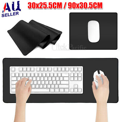 AU15.45 • Buy Extra Large Size Gaming Mouse Pad Desk Mat Anti-slip Rubber Speed Mousepad Black
