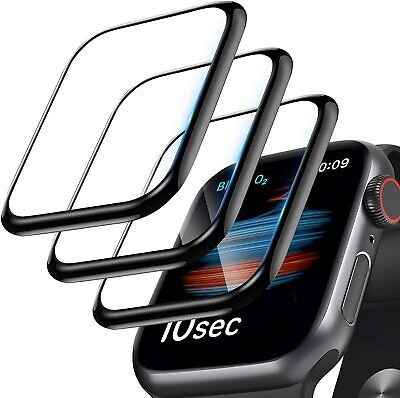 $ CDN3.09 • Buy For Apple Watch Series 5 40mm 44mm Full Cover 3D Tempered Glass Screen Protector