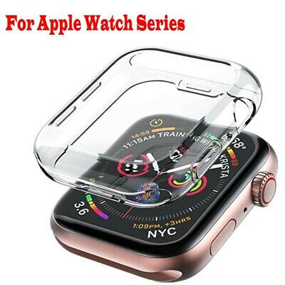 $ CDN1.79 • Buy Apple Watch Series 5 4 3 2 1 TPU Protector Cover Case Screen 38mm 42mm 40mm 44mm