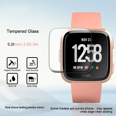 $ CDN3.34 • Buy 5 Pack For Fitbit Versa / Versa Lite 9H Tempered Glass Screen Protector Saver