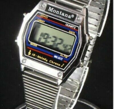 Montana 16 Melody Alarm Watch Collectable 80s' • 49.99£