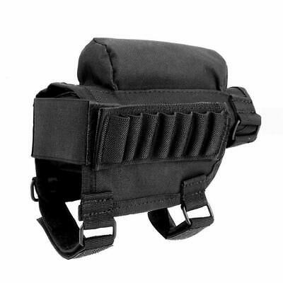 Rifle Stock Pack Bag Buttstock Cheek Pad Rest Shell Mag Ammo Pouch Pocket Holder • 8.65$