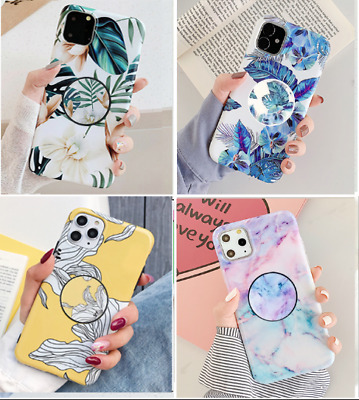 AU13.98 • Buy Cute Marble Flowers Holder Girls Wemen Case Cover F IPhone X XS 11 Pro Max XR